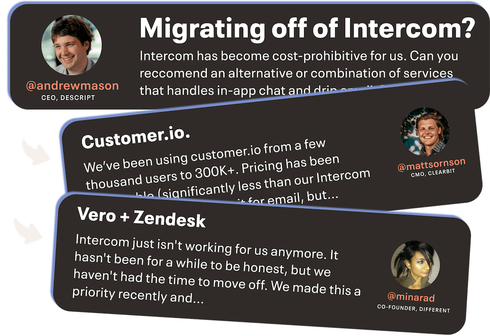 Discussion on Intercom and alternatives